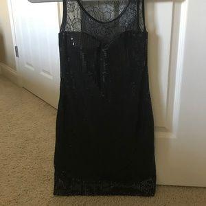As U Wish Dresses - Black Sequin Mini Dress